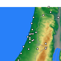 Nearby Forecast Locations - Ramat Gan - Carte