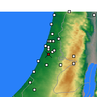 Nearby Forecast Locations - Rehovot - Carte