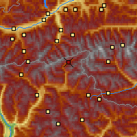 Nearby Forecast Locations - Valle Aurina - Carte