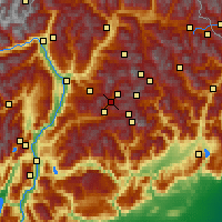 Nearby Forecast Locations - Moena - Carte