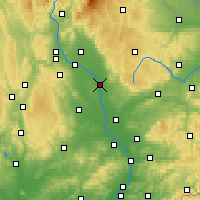 Nearby Forecast Locations - Olomouc - Carte