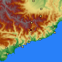 Nearby Forecast Locations - Fontan - Carte