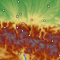 Nearby Forecast Locations - Aspin-Aure - Carte