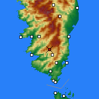 Nearby Forecast Locations - Aullène - Carte