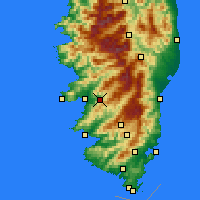 Nearby Forecast Locations - Cauro - Carte