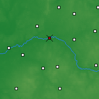 Nearby Forecast Locations - Zawisty Podleśne - Carte
