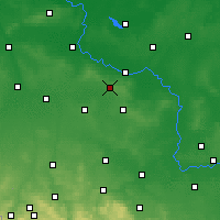 Nearby Forecast Locations - Wierzchowice - Carte