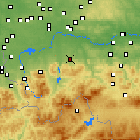 Nearby Forecast Locations - Andrychów - Carte