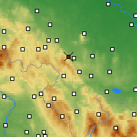 Nearby Forecast Locations - Dzierżoniów - Carte