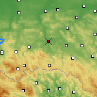 Nearby Forecast Locations - Jasło - Carte