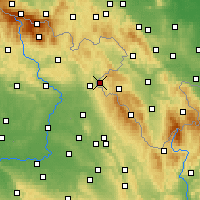 Nearby Forecast Locations - Kudowa-Zdrój - Carte