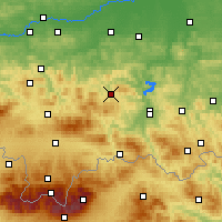 Nearby Forecast Locations - Limanowa - Carte