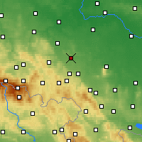 Nearby Forecast Locations - Strzegom - Carte