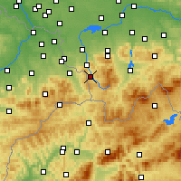Nearby Forecast Locations - Wisła - Carte
