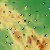 Nearby Forecast Locations - Żdanów - Carte