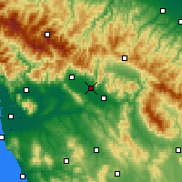Nearby Forecast Locations - Prato - Carte