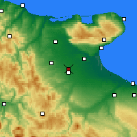 Nearby Forecast Locations - Foggia - Carte