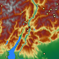 Nearby Forecast Locations - Trente - Carte