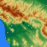 Nearby Forecast Locations - Pistoia - Carte