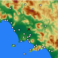 Nearby Forecast Locations - Caserte - Carte