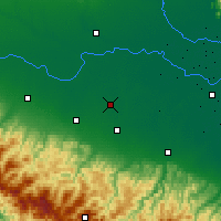 Nearby Forecast Locations - Carpi - Carte