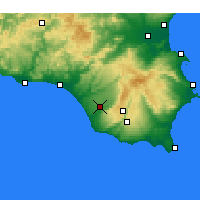 Nearby Forecast Locations - Vittoria - Carte
