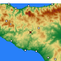Nearby Forecast Locations - Caltanissetta - Carte