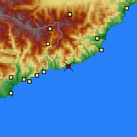 Nearby Forecast Locations - San Remo - Carte