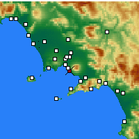 Nearby Forecast Locations - Ercolano - Carte