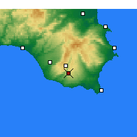 Nearby Forecast Locations - Modica - Carte