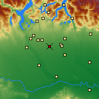 Nearby Forecast Locations - Rho - Carte