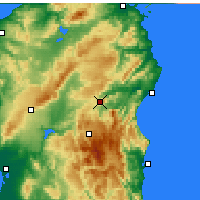 Nearby Forecast Locations - Nuoro - Carte