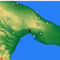 Nearby Forecast Locations - Massafra - Carte