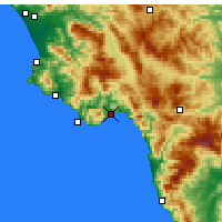 Nearby Forecast Locations - Policastro Bussentino - Carte