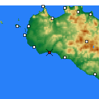 Nearby Forecast Locations - Marinella di Selinunte - Carte