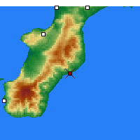 Nearby Forecast Locations - Roccella Ionica - Carte
