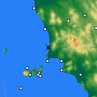 Nearby Forecast Locations - San Vincenzo - Carte