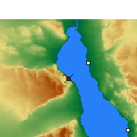 Nearby Forecast Locations - Wade El Dom Marina - Carte