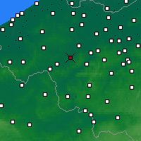Nearby Forecast Locations - Waregem - Carte