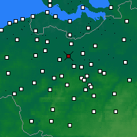 Nearby Forecast Locations - Lochristi - Carte