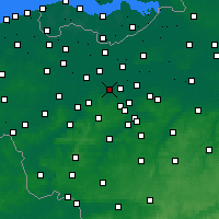 Nearby Forecast Locations - Wetteren - Carte