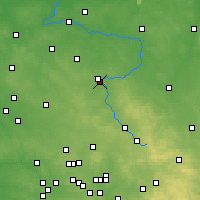 Nearby Forecast Locations - Częstochowa - Carte