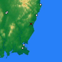 Nearby Forecast Locations - Gorey - Carte