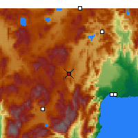 Nearby Forecast Locations - Korkuteli - Carte