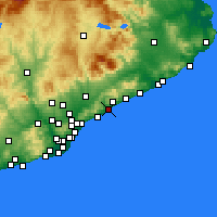 Nearby Forecast Locations - Mataró - Carte
