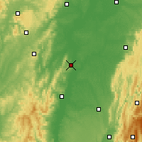 Nearby Forecast Locations - Tournus - Carte