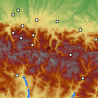 Nearby Forecast Locations - Bagnères-de-Luchon - Carte