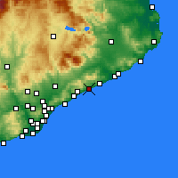 Nearby Forecast Locations - Canet de Mar - Carte