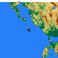 Nearby Forecast Locations - Gaios - Carte