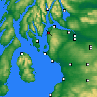 Nearby Forecast Locations - Inverkip - Carte
